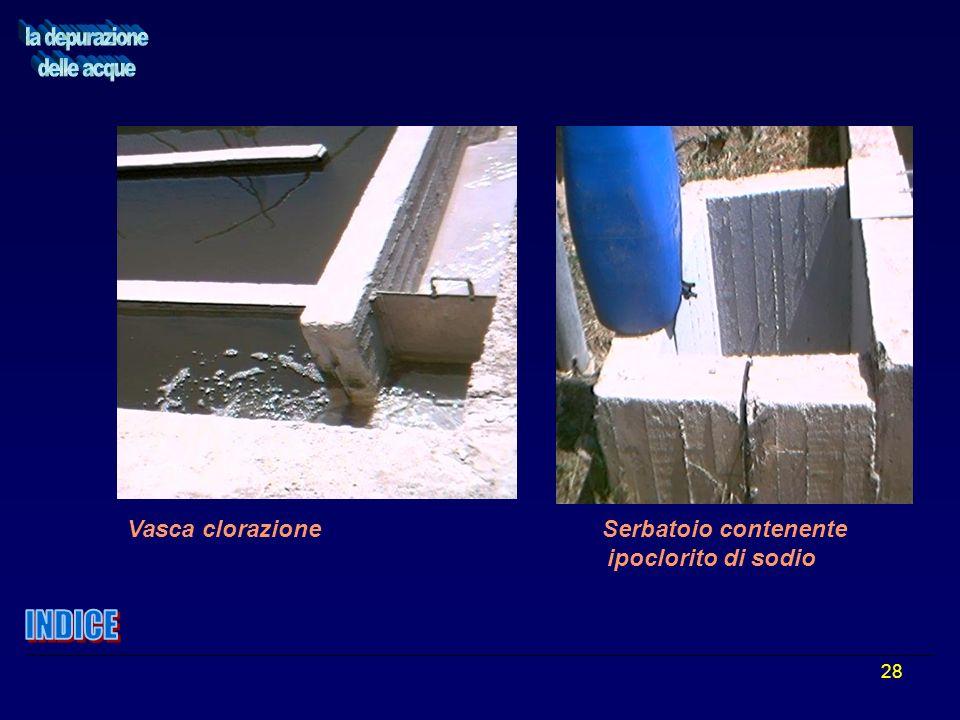 28 Vasca clorazione Serbatoio contenente ipoclorito di sodio
