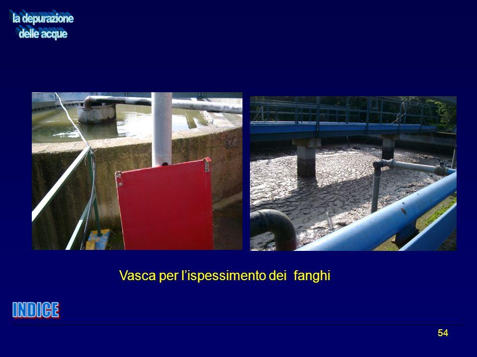54 Vasca per lispessimento dei fanghi