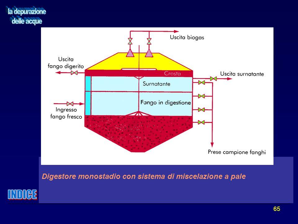 65 Digestore monostadio con sistema di miscelazione a pale