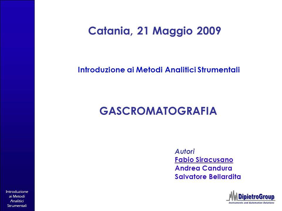 Introduzione ai Metodi Analitici Strumentali Catania, 21 Maggio 2009 Introduzione ai Metodi Analitici Strumentali Autori Fabio Siracusano Andrea Candu
