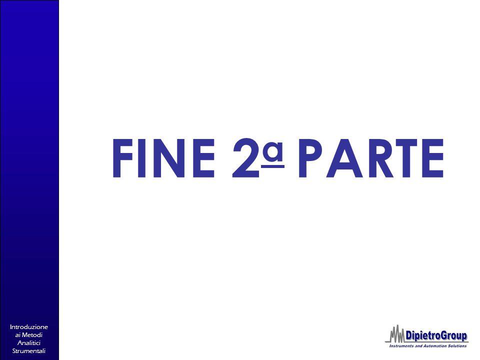 Introduzione ai Metodi Analitici Strumentali FINE 2 a PARTE