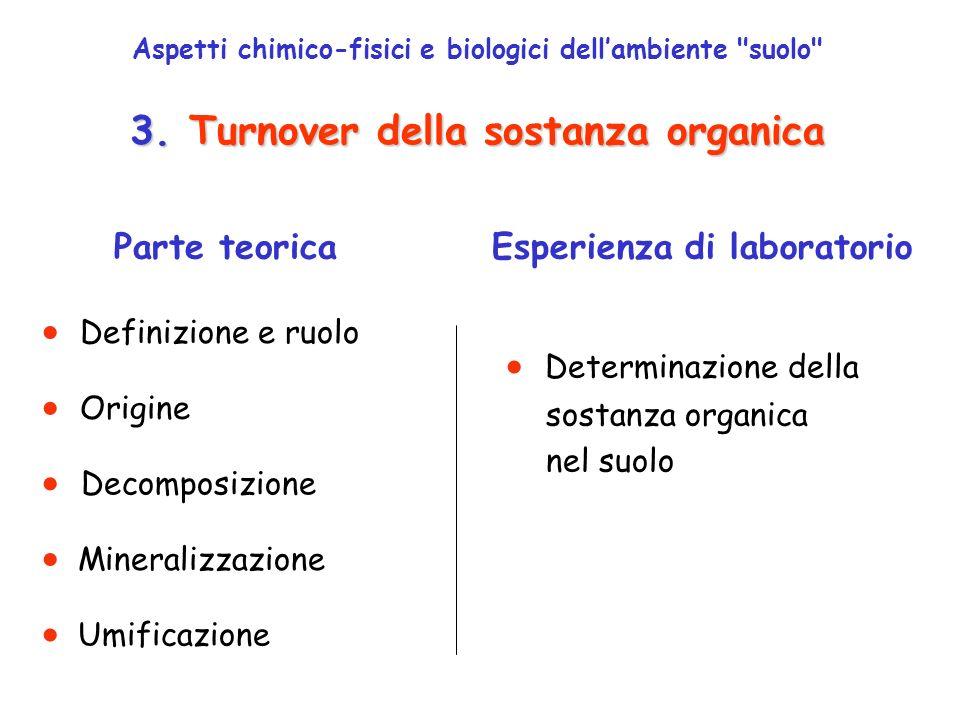 3.Sostanza organica 3.