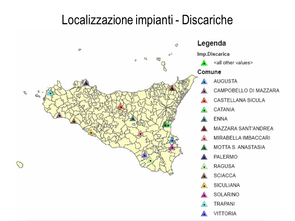 Localizzazione impianti - Discariche