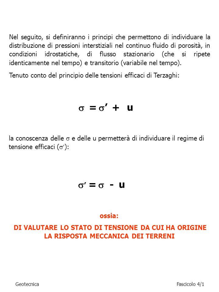 Con riferimento alla numerazione delle maglie ed alla simbologia in figura, in una rete idrodinamica a maglie regolari si può scrivere: l4l4 s4s4 s i /l i =c h 1 =h- h 01 h h 2 =h 1 - h 12 Q2Q2 Q1Q1 1 2 3 4 Essendo il rapporto s i /l i = costante = c: IN UNA RETE IDRODINAMICA A MAGLIE REGOLARI LA VARIAZIONE DI QUOTA PIEZOMETRICA TRA LE ISOPIEZICHE È COSTANTE.