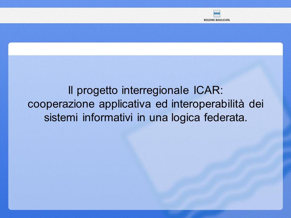 Il progetto interregionale ICAR: cooperazione applicativa ed interoperabilità dei sistemi informativi in una logica federata.