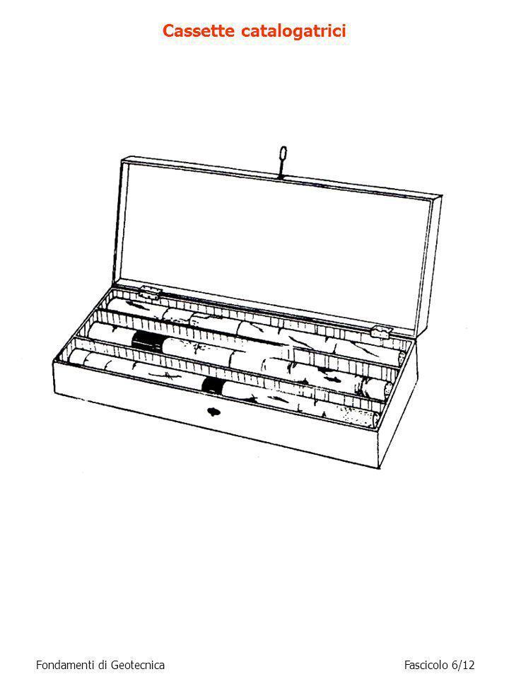 Fondamenti di GeotecnicaFascicolo 6/12 Cassette catalogatrici