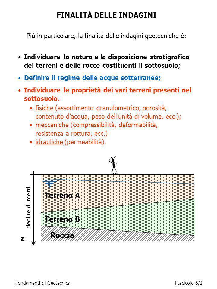 Più in particolare, la finalità delle indagini geotecniche è: FINALITÀ DELLE INDAGINI Individuare la natura e la disposizione stratigrafica dei terren
