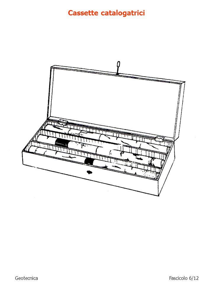 GeotecnicaFascicolo 6/12 Cassette catalogatrici