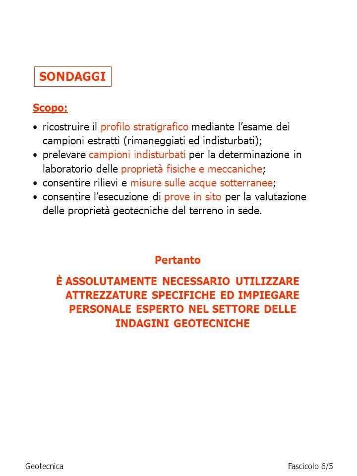 GeotecnicaFascicolo 6/16 Caratteristiche dei campionatori