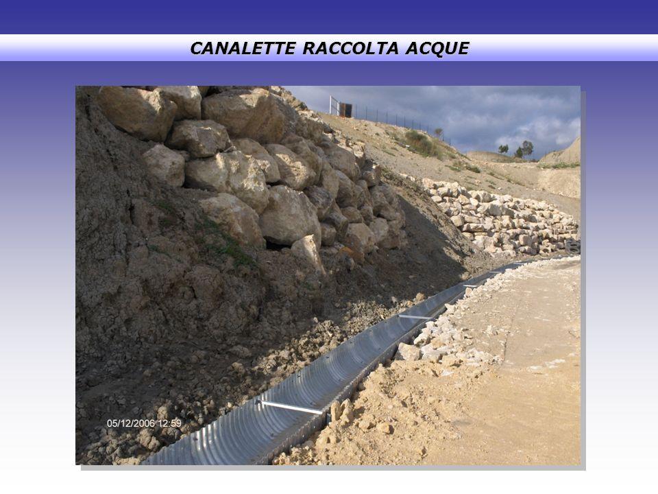 CANALETTE RACCOLTA ACQUE