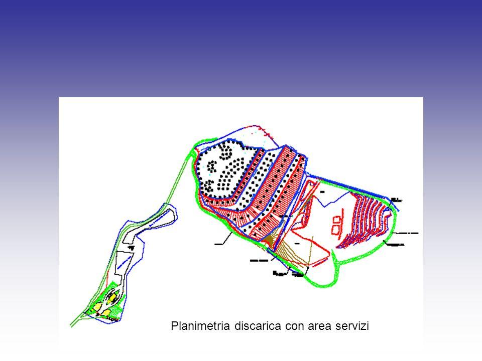 Planimetria discarica con area servizi