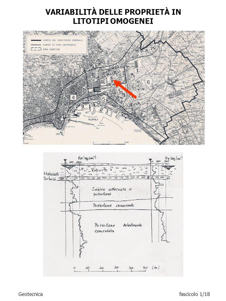 Geotecnicafascicolo 1/18 VARIABILITÀ DELLE PROPRIETÀ IN LITOTIPI OMOGENEI