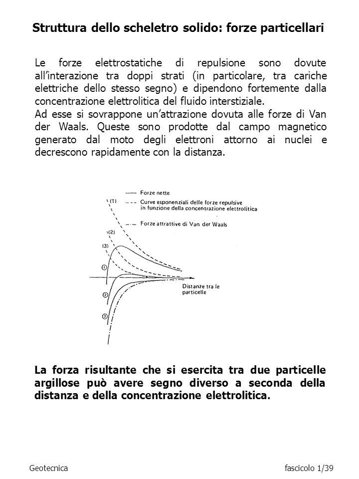 Le forze elettrostatiche di repulsione sono dovute allinterazione tra doppi strati (in particolare, tra cariche elettriche dello stesso segno) e dipen