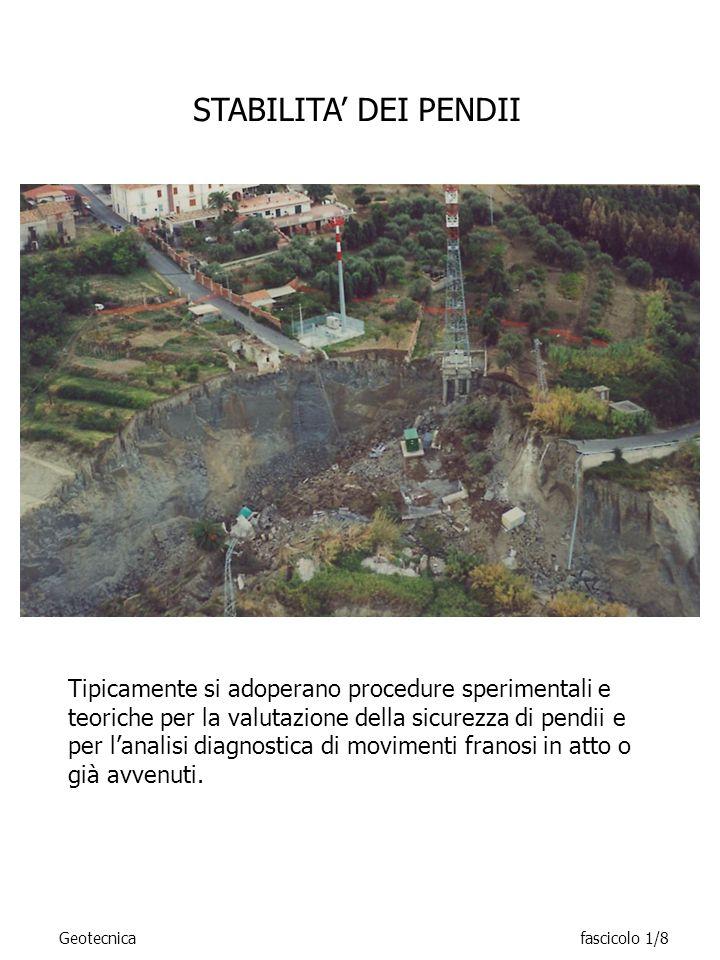 DINAMICA DELLE TERRE E DELLE ROCCE Geotecnicafascicolo 1/9