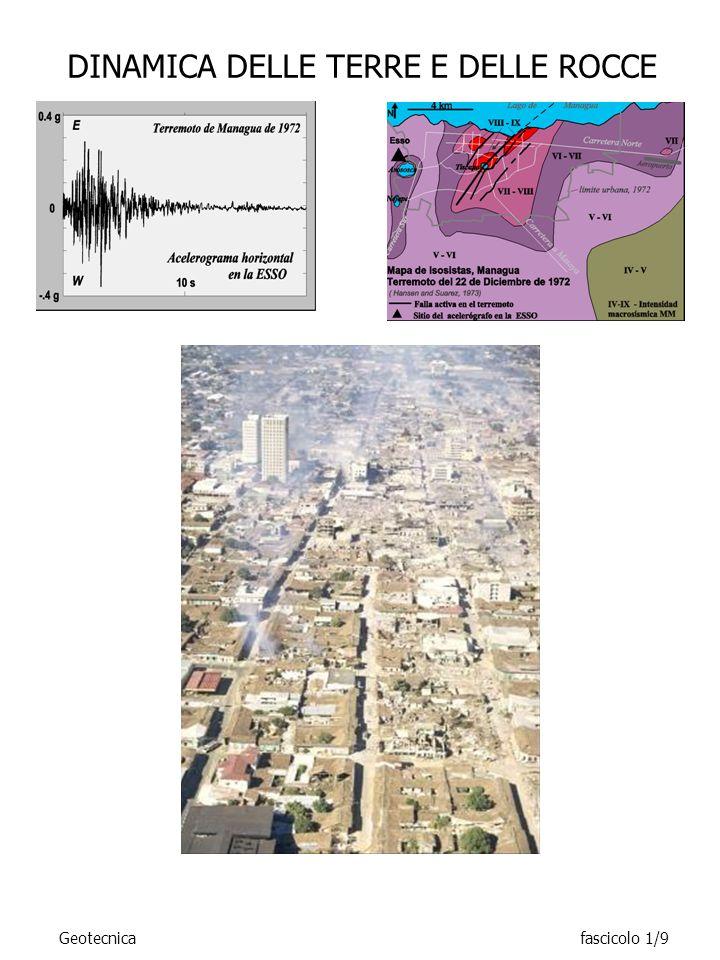 DINAMICA DELLE TERRE E DELLE ROCCE Geotecnicafascicolo 1/10