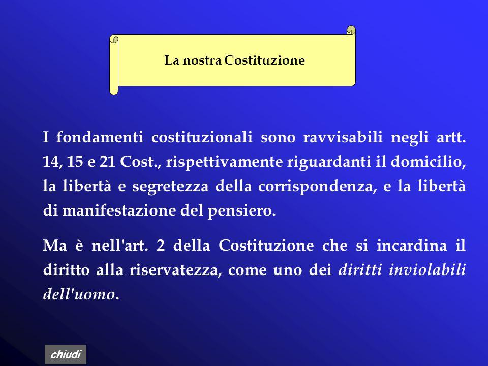 chiudi IL DIRITTO ALLA PRIVACY IN ITALIA