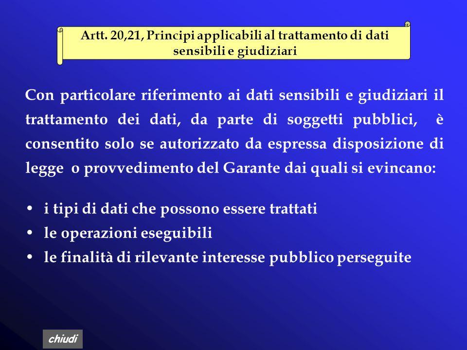 chiudi I soggetti pubblici non devono richiedere il consenso dellinteressato Art.18, comma 4