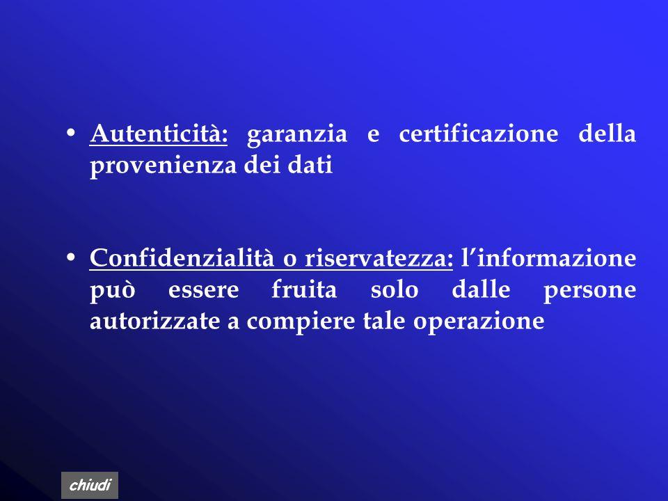 chiudi Viene definito sicuro un sistema informativo automatizzato che soddisfi le seguenti proprietà: D isponibilità: linformazione ed i servizi che e