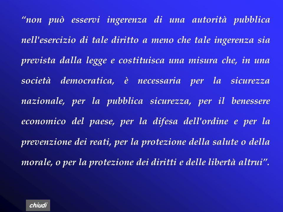 chiudi Art. 8, della Covenzione Europea dei Diritti dellUomo (CEDU) (1950) Poneva tra i diritti fondamentali il rispetto:. della propria vita privata