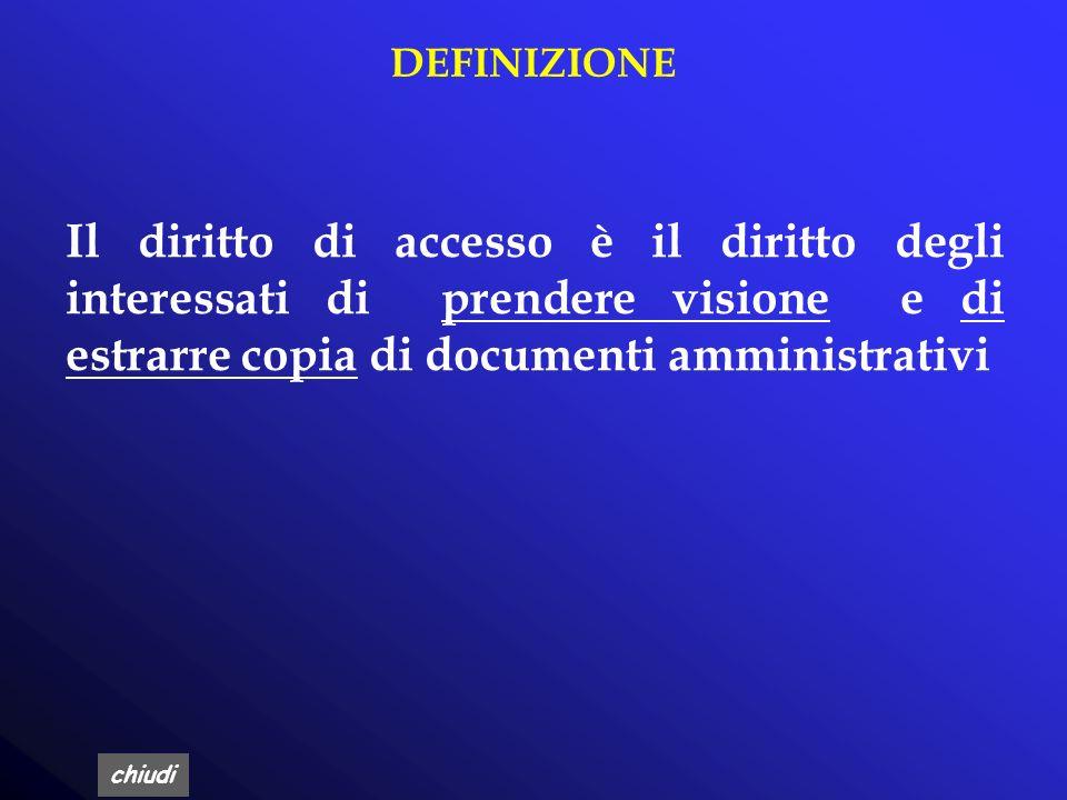 chiudi FINALITA DELLACCESSO L'accesso ai documenti amministrativi costituisce principio generale dell'attività amministrativa al fine di favorire la p