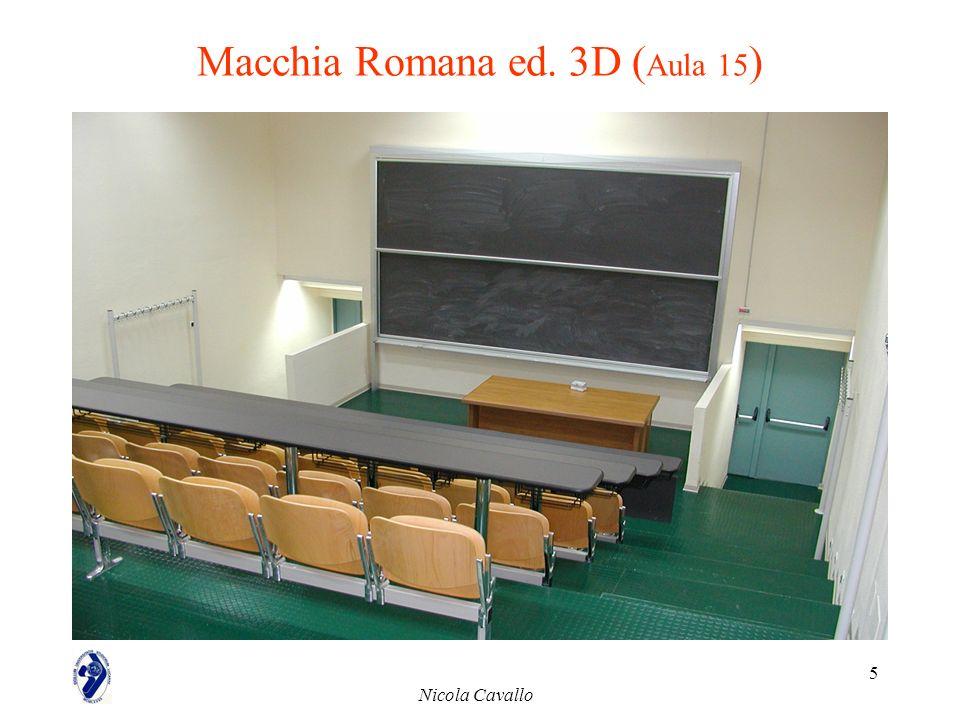 Nicola Cavallo 5 Macchia Romana ed. 3D ( Aula 15 )