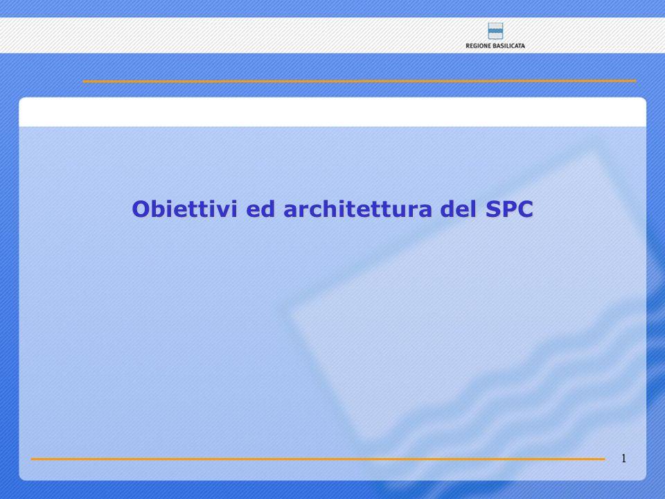 1 Obiettivi ed architettura del SPC