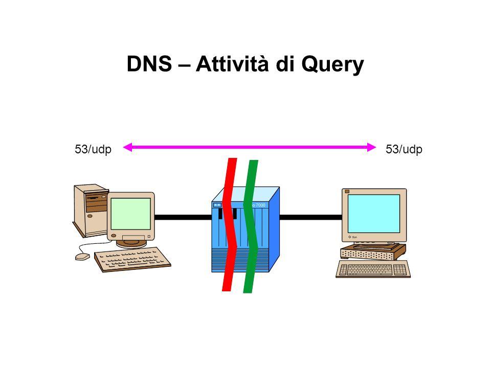 DNS – Attività di Query 53/udp