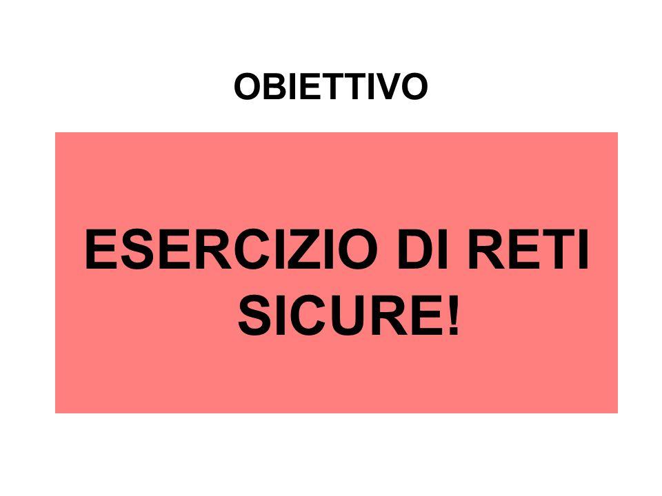OBIETTIVO ESERCIZIO DI RETI SICURE!