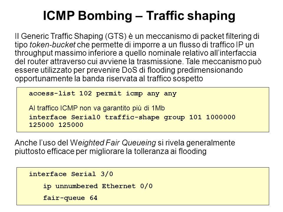 Il Generic Traffic Shaping (GTS) è un meccanismo di packet filtering di tipo token-bucket che permette di imporre a un flusso di traffico IP un throug