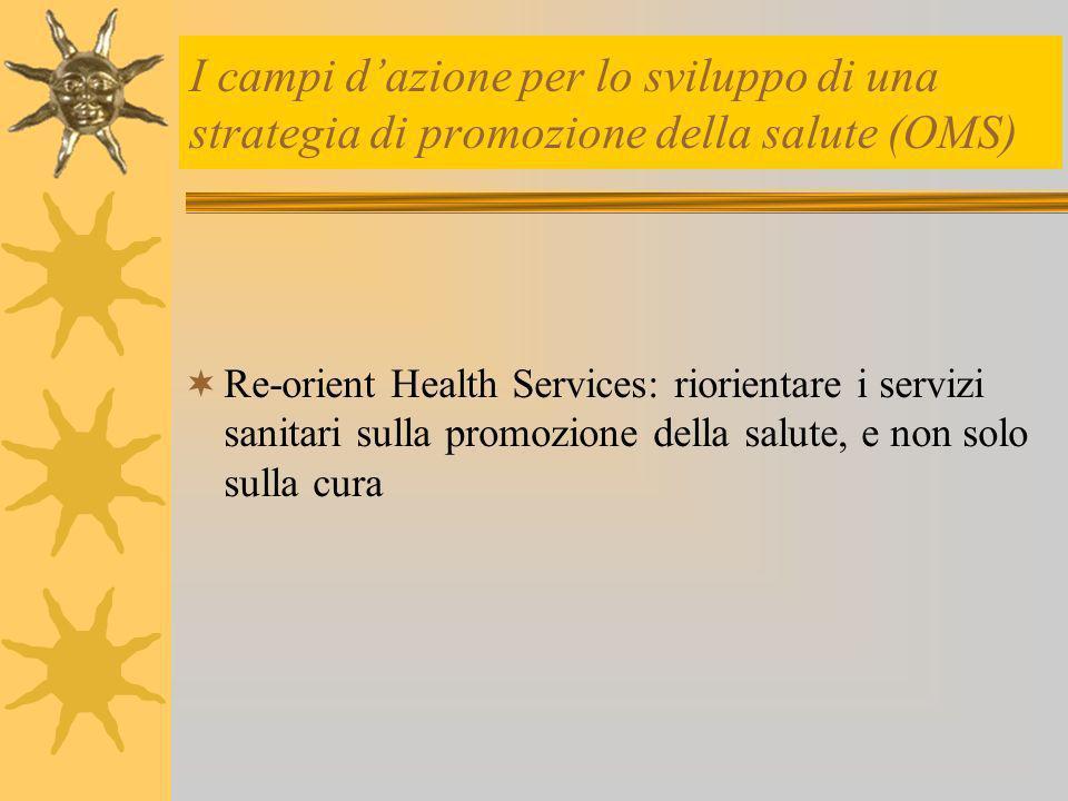 Obiettivi delleducatore alla salute Lavorare sulle variabili che influiscono sui processi intenzionali, finalizzando lintervento alla competenza… …essere capaci di…..