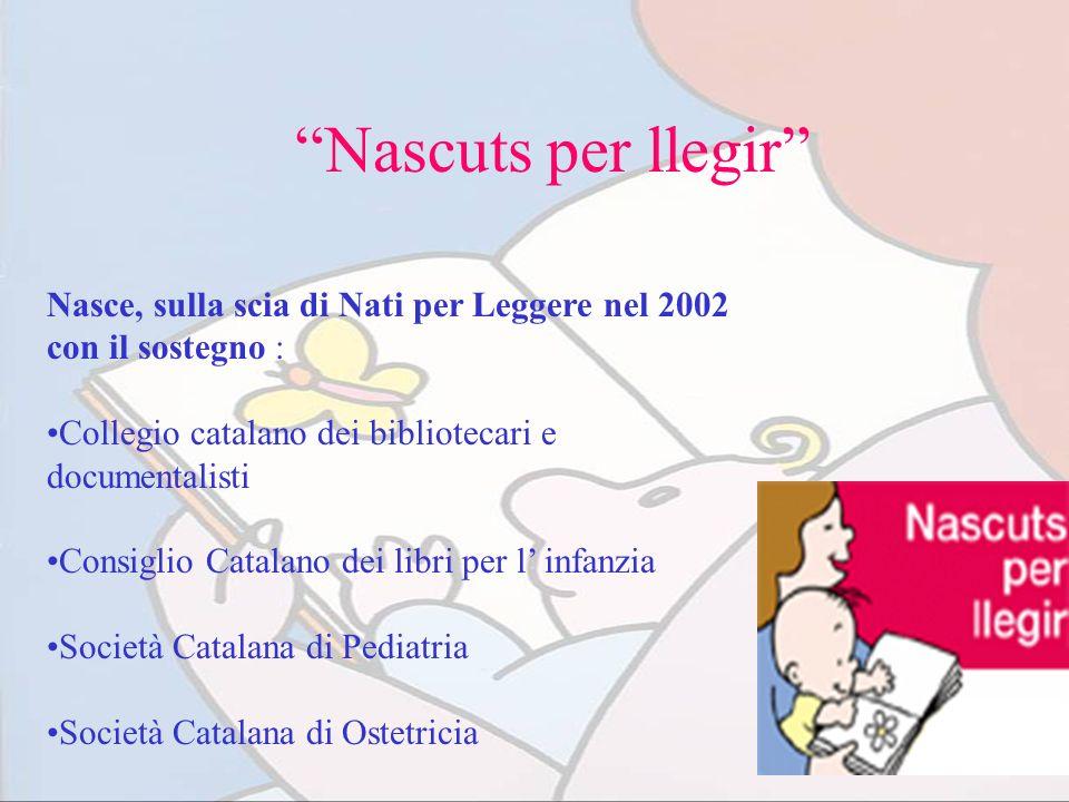 Nascuts per llegir Nasce, sulla scia di Nati per Leggere nel 2002 con il sostegno : Collegio catalano dei bibliotecari e documentalisti Consiglio Cata