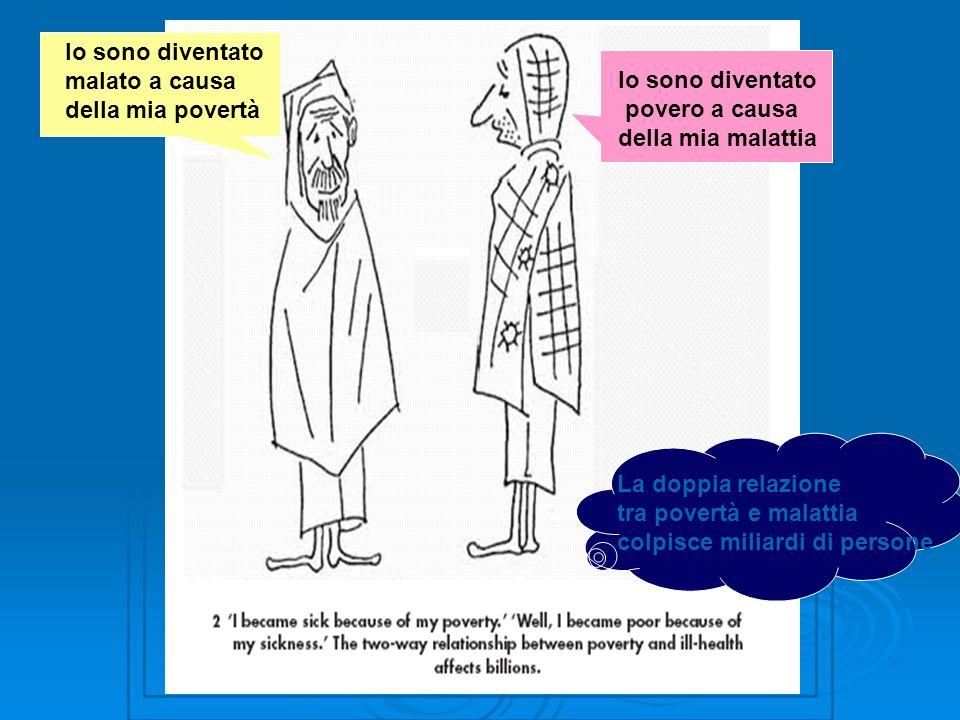 Io sono diventato malato a causa della mia povertà Io sono diventato povero a causa della mia malattia La doppia relazione tra povertà e malattia colp