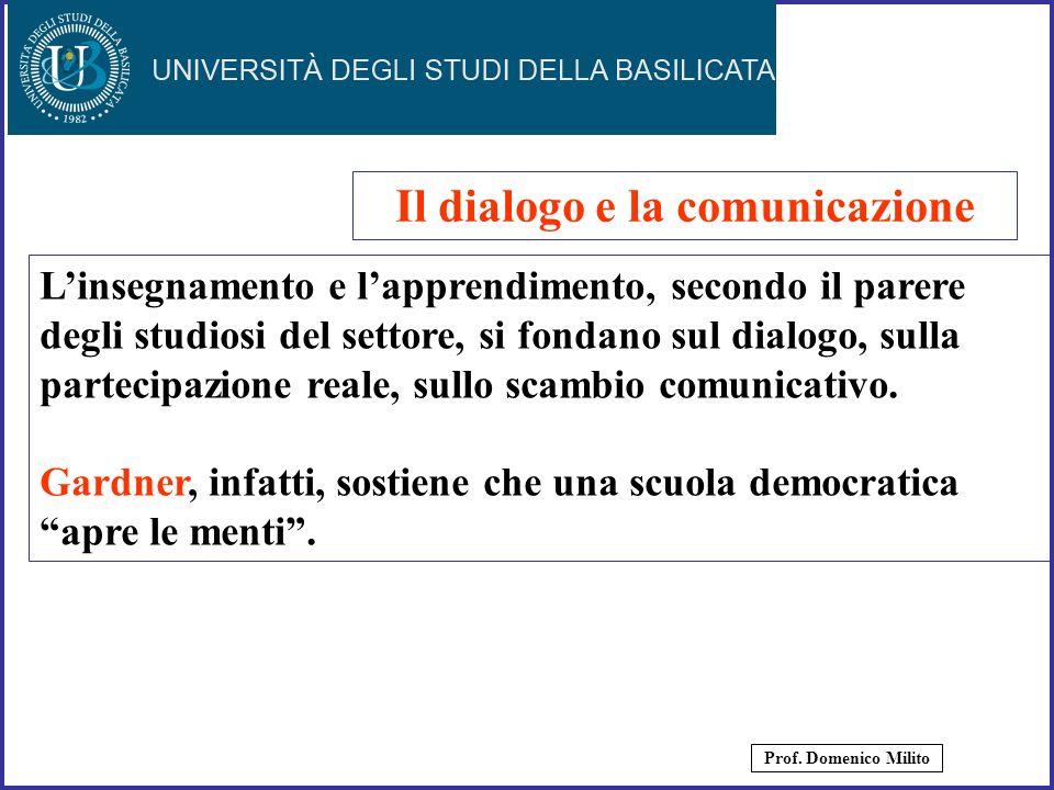16 Linsegnamento e lapprendimento, secondo il parere degli studiosi del settore, si fondano sul dialogo, sulla partecipazione reale, sullo scambio com