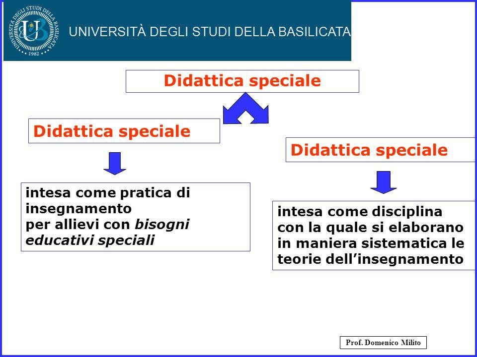 Didattica speciale intesa come pratica di insegnamento per allievi con bisogni educativi speciali intesa come disciplina con la quale si elaborano in