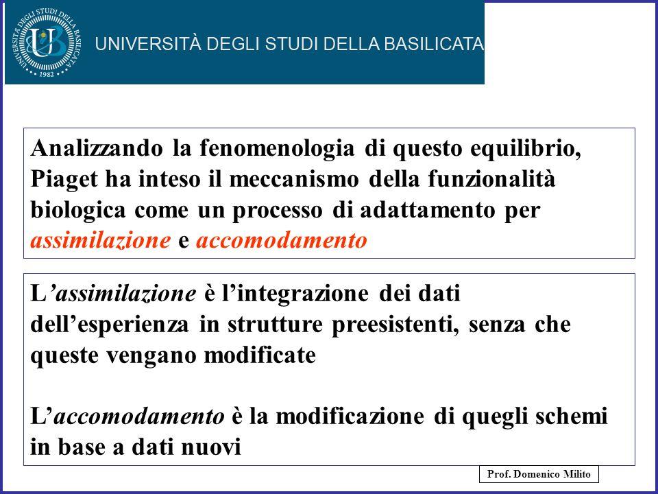 21 Analizzando la fenomenologia di questo equilibrio, Piaget ha inteso il meccanismo della funzionalità biologica come un processo di adattamento per