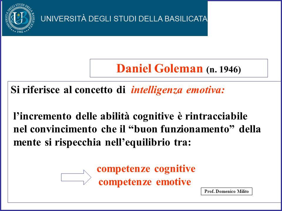 37 Si riferisce al concetto di intelligenza emotiva: lincremento delle abilità cognitive è rintracciabile nel convincimento che il buon funzionamento