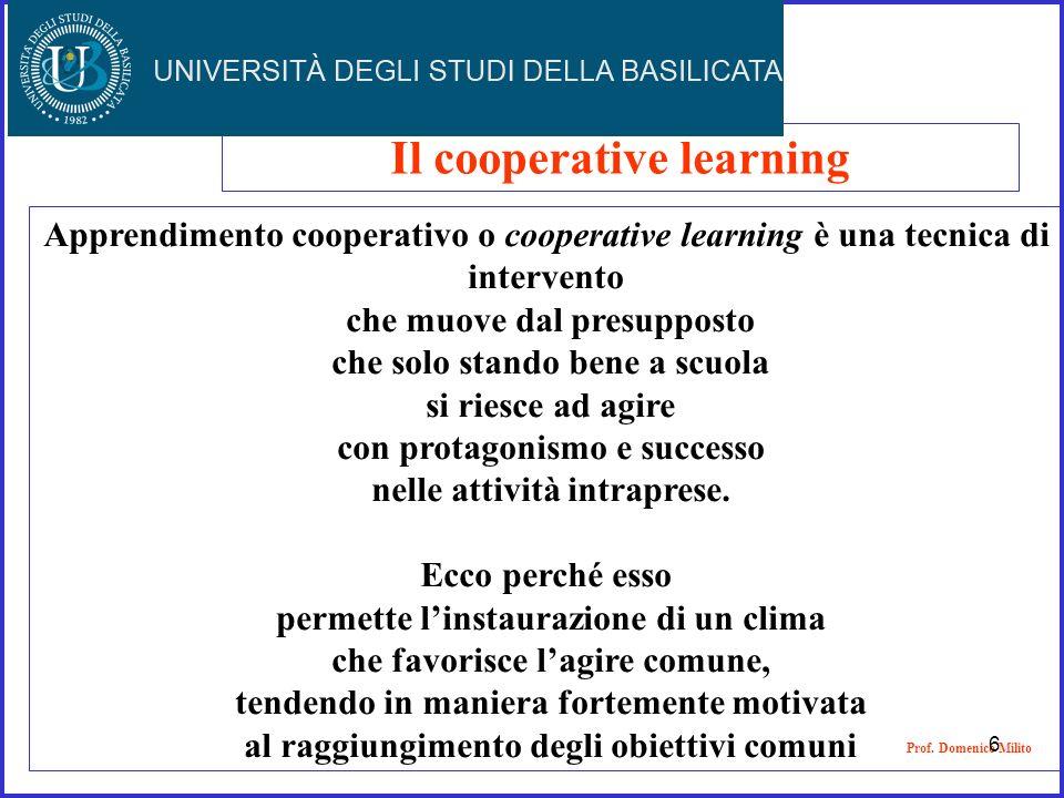 Apprendimento cooperativo o cooperative learning è una tecnica di intervento che muove dal presupposto che solo stando bene a scuola si riesce ad agir