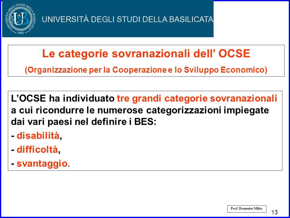 14 Prof. Domenico Milito Le categorie sovranazionali dell OCSE (Organizzazione per la Cooperazione e lo Sviluppo Economico) LOCSE ha individuato tre g