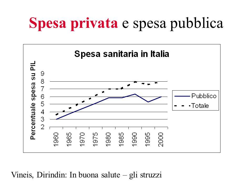 Spesa privata e spesa pubblica Vineis, Dirindin: In buona salute – gli struzzi