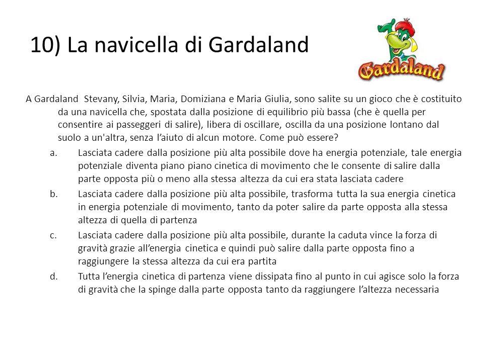 10) La navicella di Gardaland A Gardaland Stevany, Silvia, Maria, Domiziana e Maria Giulia, sono salite su un gioco che è costituito da una navicella