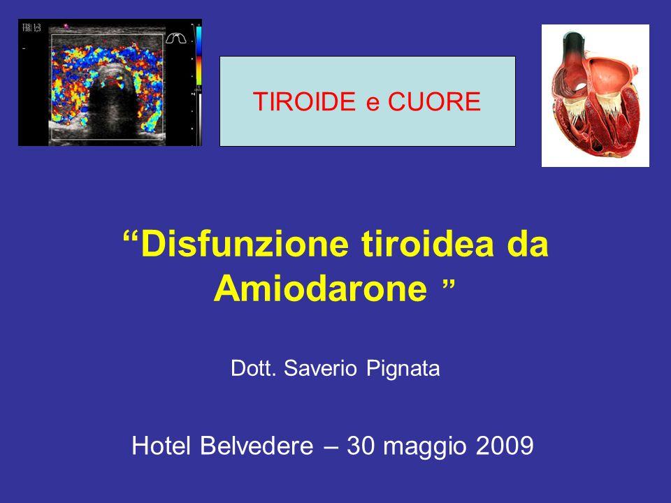 Disfunzione tiroidea da Amiodarone Dott. Saverio Pignata Hotel Belvedere – 30 maggio 2009 TIROIDE e CUORE