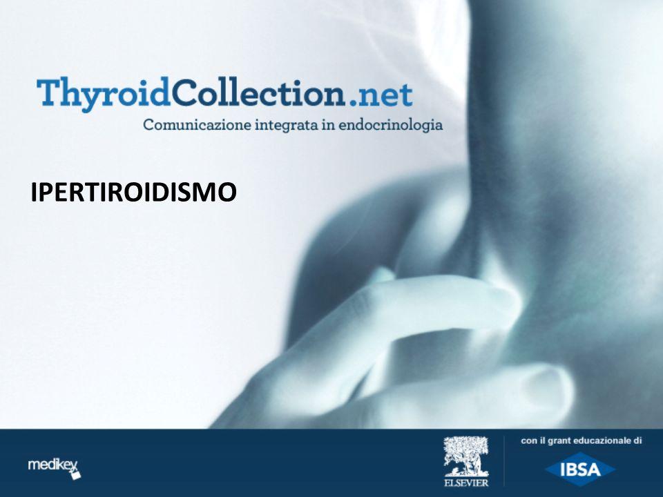 Ipertiroidismo (1) Definizione Lipertiroidismo è una condizione clinica dovuta alleccessiva sintesi e secrezione degli ormoni tiroidei e la cui eziologia è varia e complessa.