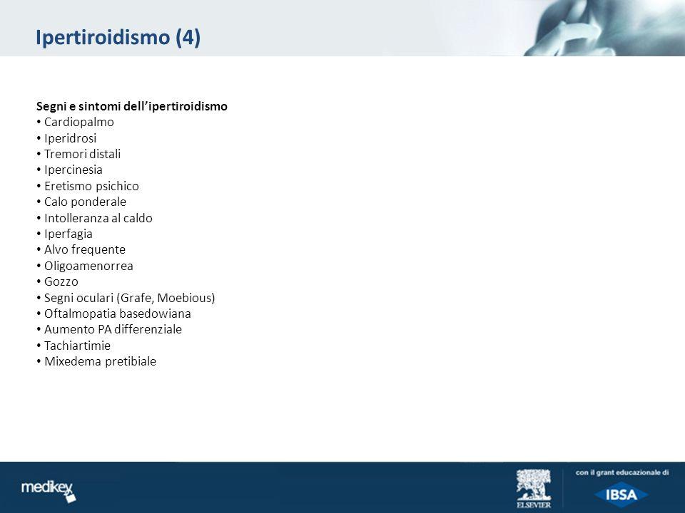 Diagnosi di ipertiroidismo: definizione delleziologia (1) Luptake del radioiodio è fondamentale nella diagnosi differenziale.