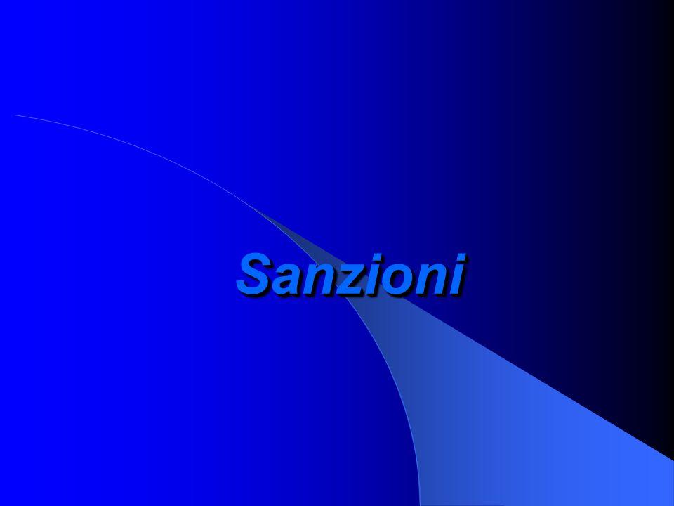 SanzioniSanzioni