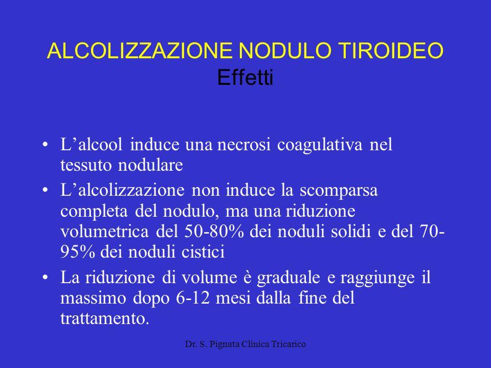 Dr.S. Pignata Clinica Tricarico ALCOLIZZAZIONE NODULO TIROIDEO Strumenti Siringa da 10 cc.