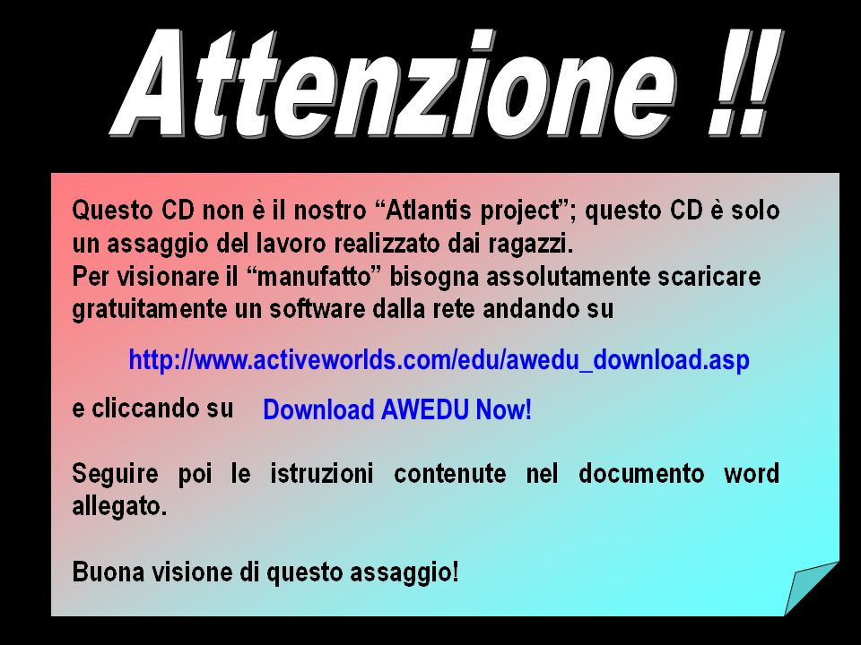 Download AWEDU Now! http://www.activeworlds.com/edu/awedu_download.asp