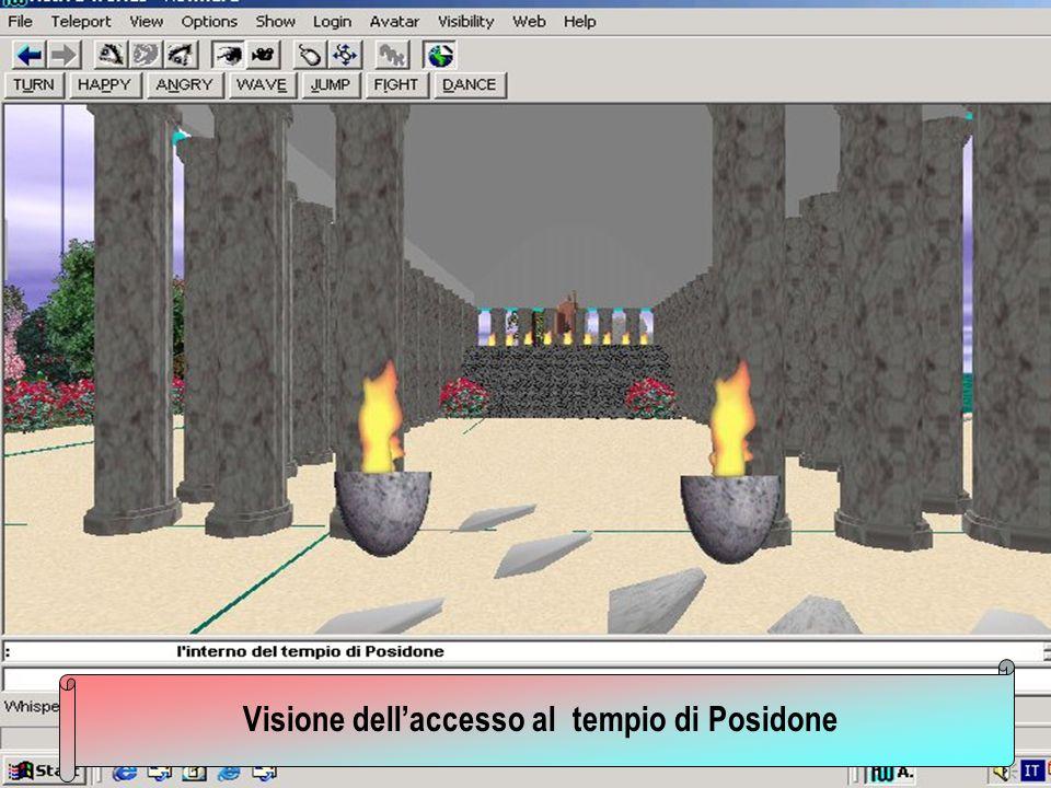 Visione dellaccesso al tempio di Posidone