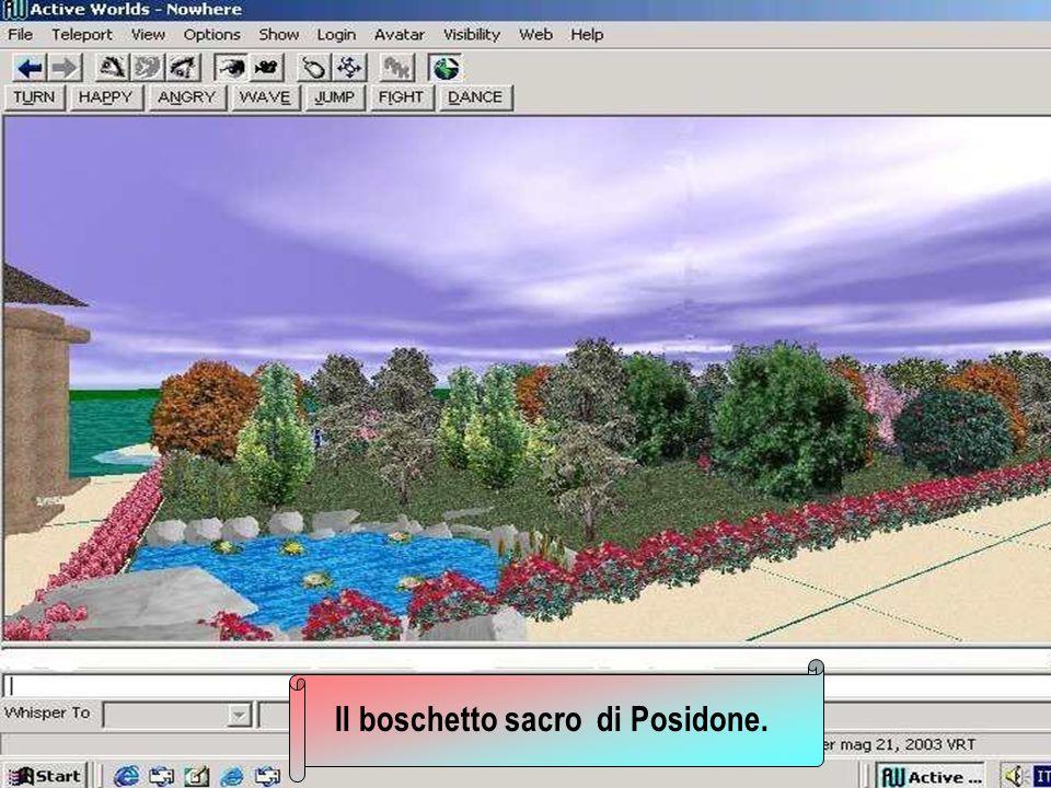 Il boschetto sacro di Posidone.
