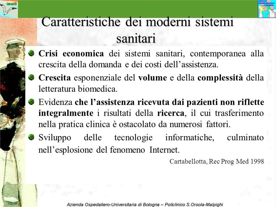 Caratteristiche dei moderni sistemi sanitari Caratteristiche dei moderni sistemi sanitari Crisi economica dei sistemi sanitari, contemporanea alla cre