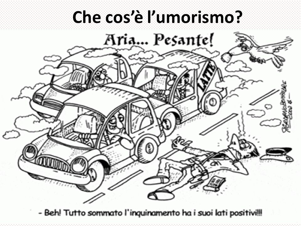Nel saggio L umorismo Pirandello distingue il comico dall umorismo.
